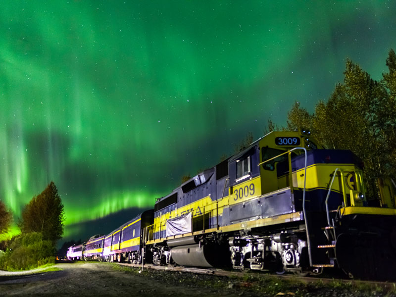 Alaska Aurora Winter Train with Chena Hot Springs |Photo Credit: Dora Miller