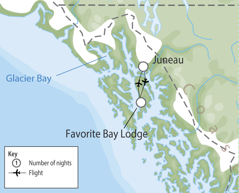 Favorite Bay Lodge | Alaska Wilderness Lodge map