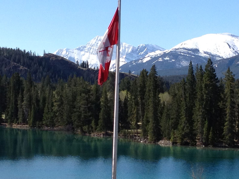 Alaska Cruise with Canadian Rockies Train Tour | Fairmont Jasper Park Lodge Edith Lake in May