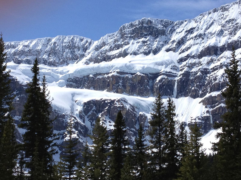 Alaska Cruise with Canadian Rockies Train Tour | Canadian Rockies Crowfoot Glacier in Spring