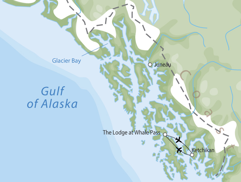 The Lodge at Whale Pass | Alaska Wilderness Lodges  map