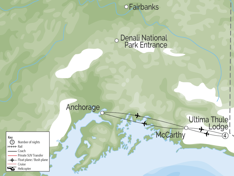 Ultima Thule Lodge | Alaska Luxury Wilderness Lodge map