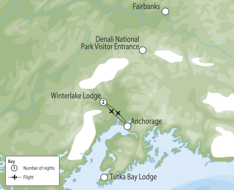 Winterlake Lodge | Alaska Wilderness Lodge map